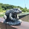 橋の欄干で繰り広げられる見るも楽しきカエル相撲(藤沢市)