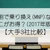 【大手3社比較】学割で乗り換え(MNP)はどこが安い?(2017年12月版)