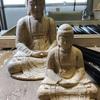今宵は新月、釈迦如来坐像を彫る