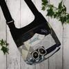 <フラットショルダーバッグ>ミナペルホネンの端布パッチワークバッグの作り方