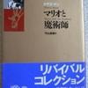 トーマス・マン「マリオと魔術師」(角川文庫)