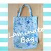 リバティ「イルマ」ラミネートの手作りバッグ、雨の日に ♪
