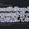 文系男子がPython3で画像収集するスクリプトを作ってみた。bs4・requests編