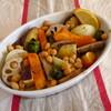 根菜と豆のローストサラダ