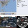 【台風18号の卵】気象庁の発表では23日09時に能登沖で台風17号は温帯低気圧に!日本の南にはまとまった雲の塊が2つ存在!台風18号『ミートク』となって日本へ接近する可能性は?