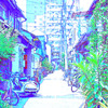Photoshopを使わずに、GIMPで簡単な手順で写真をイラスト風にする(続き)。単色カラーマスク合成。
