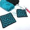 ロシア式模様編みの四角形
