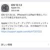 iOS12.1.3が配信開始 複数のバグ修正