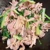 【 ご飯ログ 】 豚肉と小松菜のポン酢炒め と 南瓜と薄揚げの和風サラダ 【 レシピ 】