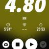 2018/01/16のトレーニング(4.8kmラン)