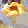 野々市【JOHNかりおすとろ】で今だけの桃とプリンのパフェ