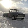 '59 CHEVROLET APACHEに乗って、雪を乗り越える。