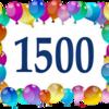 1500記事達成!! 感謝、感謝!!