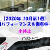 【株式】週間運用パフォーマンス&保有株一覧(2020.10.2時点) 小休止