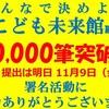こども未来館 署名10,000筆突破 !