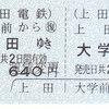 上田電鉄  硬券往復乗車券 2