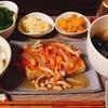 豆腐ステーキの甘酢あんかけとおでんの汁かけごはん(´ω`*)