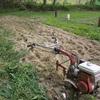 収穫の終わった「夢の麦畑」