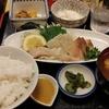 神田【季節料理 竹仙】平目と鯛刺身ゴマダレ定食 ¥1000
