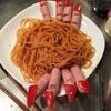ハロウィンスパゲティ作ってみた。