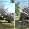 恐竜を立体視してみましょう!