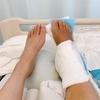 足首脱臼骨折入院5-7目:足関節観血的手術、激痛、リハビリ開始