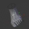 東北ずん子をモデリングする(8) 足を作る