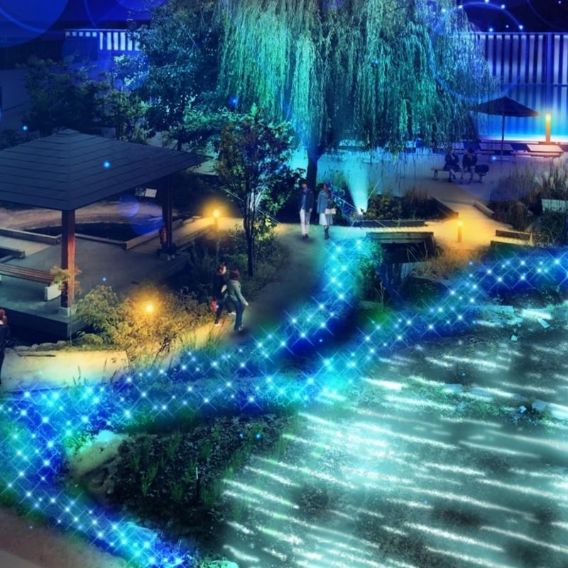 オオサンショウオツリーにイルミネーション!?ワンダーランドな夜の京都水族館