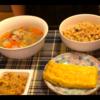 【いつかの晩御飯】豚汁と炊き込みご飯と卵焼き