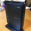 無線LANルーター更改(NEC WG2200HP)