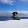 「見附島」雪景色