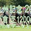 【北九州記念 2020】過去10年データと予想