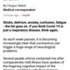 形式主語itとthat節の構文, 強調構文, 接続詞のasなど(新型コロナウイルスは、人体で何を引き起こすか)