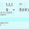 新宿から西武秩父への乗車券