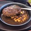 朝から松屋のビーフハンバーグステーキ