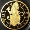 イギリス2017年クィーンズビースト ライオン5オンス金貨