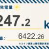 9/9〜9/15の総発電量は247.2kWh(目標比97%)でした!