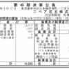 ニベア花王株式会社 第49期決算公告