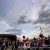 ラグビーワールドカップ2019開幕戦、ブルーインパルスが調布の上空に舞う!