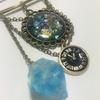 【UVレジン】水晶と時計のブローチピン