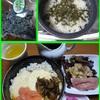 17/01/06の晩ご飯(めかぶ茶ご飯とろろ掛け丼)