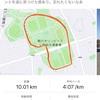 駒沢公園で10kmだけペース走