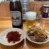 自家製中華そば としおか 『つけ中 生玉子チャーシュー(小)辛味(別皿) ビール』