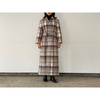 【AURALEE】WOOL CHECK MELTON MAXI SOUTIEN COLLAR COAT
