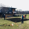 ログハウス建築日誌②土を掘り起こし