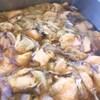 鶏肉と山東菜、舞茸の蒸し物