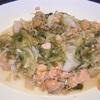 春キャベツと鮭の味噌バター炒め ヘルシオホットクックで自炊(101)