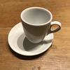 フィレンチェでよく見かけた、カップを片寄せて配置するカップ&トレイソーサーを買いました。