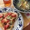 焼きサバピザと夕ごはんプラス大人のジャイアントコーン