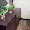 収納機能のあるお花台を作りました